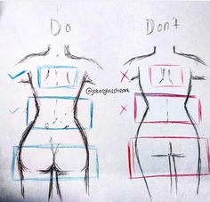 Great tips for figure drawing💕 ❣️Neither of them are entirely correct anatomically but still has some good points.