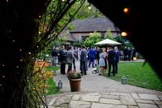 Our courtyard for an Autumn drinks reception | Autumn Wedding at Ramster Hall Wedding Venue