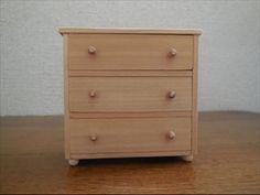 ドールハウス家具 チェストの作り方 Dollhouse furniture Way of making a chest