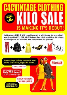 C4CVintage KILO Sale Making its debut 16 DEC 2012 Amsterdam   https://www.facebook.com/events/103087659858922/  Copyright C4C