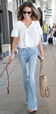 Look of the Day - June 29, 2014 - Chrissy Teigen in Frame Denim from #InStyle
