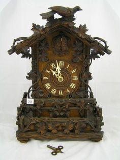 Vintage Black Forest Cuckoo Clock | Antique 19th C. Black Forest Cuckoo Clock - London ... | clocks - sat ...