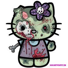 hello kitty zombie | Hello Zombie? or The Walking Kitty? I went an zombified Hello Kitty ...