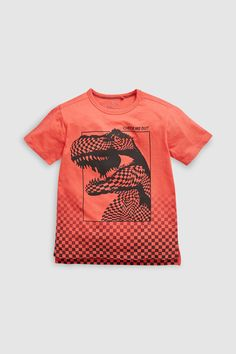 Buy Red Checkerboard Dino T-Shirt from the Next UK online shop Kids Fashion Boy, Fashion Days, H&m Kids, Boys T Shirts, Tee Shirts, Boys Wear, Heart For Kids, Boy Outfits, Graphic Tees