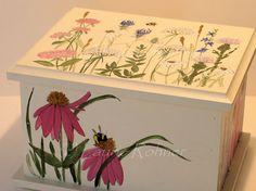 Painted Furniture Contemporary Painted Keepsake by BetweenTheWeeds, SOLD