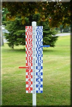 Backyard Game Scoreboard by Whoodie on Etsy. Perfect for RampShot! Play to 15 or overtime to 21.