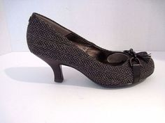 Sofft VANESSA Pumps Coffee Bean Herringbone Fabric Tassel Size 8M NEW #Sofft #PumpsClassics #Any