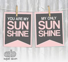 You are my Sunshine 8x10 Print Set by AugustBloomDesigns, $19.95