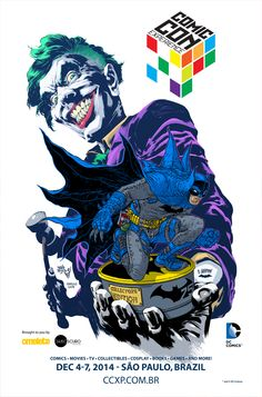 CCXP poster.Joker by Ivan Reis an Batman by Rafael Grampá.