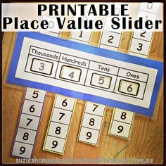 Are you learning place values in math right now? suzie& home educa Fun Math, Math Games, Math Activities, Place Value Activities, Math Place Value, Place Values, Learning Place, Learning Games, Math Intervention