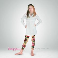 Berry Jane Leggings: Pretty Floral Leggings!