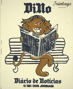 Dino, diário de noticias, o rei dos jornais… autocolante publicitário.