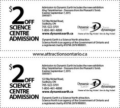 Science North Ontario Attractions, Tutankhamun, Coupons, Science, Coupon