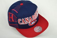 MONTREAL CANADIANS (BRAND) M Snapback Cap, Montreal, Navy Blue, Hats, Red, Hat, Navy, Rouge, Snapback