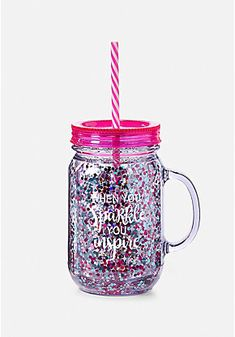 Help her express herself with our collection of tween accessories! Mason Jar Glasses, Mason Jar Diy, Small Girls Bedrooms, Smoothie Cup, Happy Birthday Cupcakes, Unicorn Fashion, Cute Water Bottles, Baby Doll Accessories, Bottle Cutting