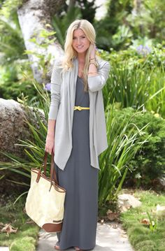 maxi cardigan and brown heels, street style inspiration | FIERCE ...