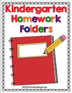 This packet includes everything you need to set up your kindergarten homework…