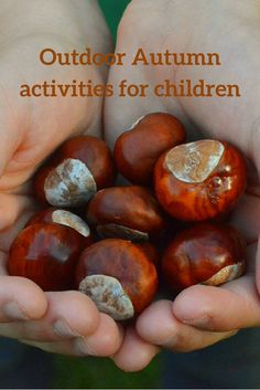 Lots of ideas on how to make the most of being outdoors enjoying nature with the kids in Autumn.
