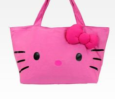 Hello Kitty Large Pink Tote Bag  Face Pink Hello Kitty df6c0c7170a27