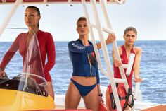 Alexandra Daddario, Ilfenesh Hadera, and Kelly Rohrbach in Baywatch (2017)