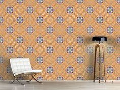 Design #Tapete Fliesen Hypnose Oriental, Rugs, Design, Home Decor, Self Adhesive Wallpaper, Tile, Wall Papers, Farmhouse Rugs, Decoration Home