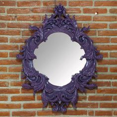 Wall Mirror Purple now featured on Fab.  Mirror mirror on the wall, whose the fairest!!!..lol