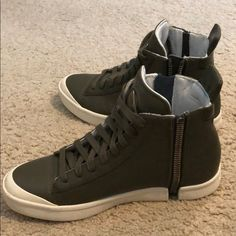 0e79f31fa673 Shop Men s diesel Green White size 10 Sneakers at a discounted price at  Poshmark.