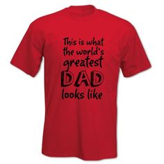 Fathers' Day WORLD'S GREATEST DAD Mens T Shirt Fun Gift Idea S Red BANG TIDY CLOTHING http://www.amazon.co.uk/dp/B00CYI06U0/ref=cm_sw_r_pi_dp_ac8nvb0X6FFTD