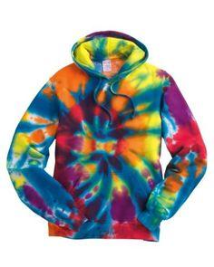 Tie-Dye-Rainbow-SPIRAL-Mens-Size-S-XL-2XL-3XL-Hoodie-Hooded-Sweatshirt-NEW-Hoody