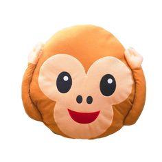 Monkey emoji pillow