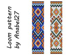 Loom bead pattern   ethnic style  beaded pattern by Anabel27shop,