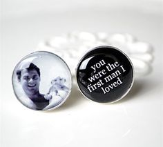 Give your father a memento of his little girl that he can wear proudly on the day. These personalised cufflinks allow you to add a photo of your choice along with a short message. A snap of the two of you taken when you were little will be a talking point at the reception and something for dad to look back on and smile.
