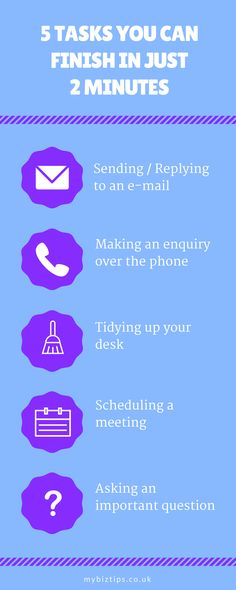 Sunday Biz Tip: What are Some Things You Can Do in 2 Minutes? [Infographic]