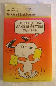 1970's Peanuts Hallmark Party Invitations Snoopy by eveningredness