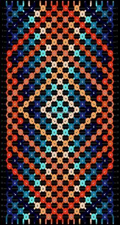 Normal friendship bracelet pattern variation added by hippyfish. Macrame Bracelet Patterns, Diy Bracelets Patterns, Diy Bracelets Easy, Thread Bracelets, Embroidery Bracelets, Summer Bracelets, Woven Bracelets, Bracelet Crafts, Bracelet Designs