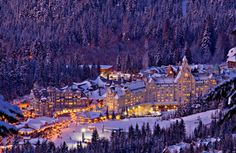 Whistler, Canada - Fun all year long, but magical at Christmas time :)