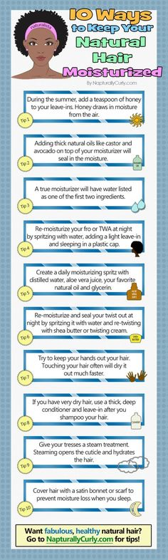 "hairdecoded: ""10 Ways to Keep Your Natural Hair Moisturized. """