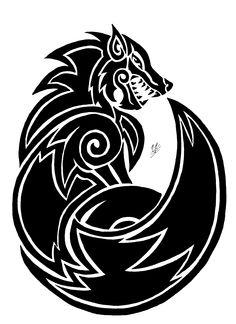 Fenrir Tattoo   Fenrir tattoo Ver.2 by FenrirofChaos