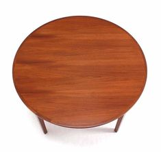Rare Danish Modern Teak Round Expandable Top Dining Table For Sale 2 Round Dinning Table, Dining Room Table, Expandable Dining Table, Danish Modern, Teak, Cabinet, Furniture, Home Decor, Clothes Stand