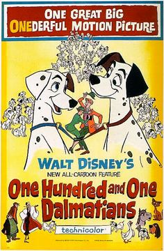 Walt Disney's One Hundred and One Dalmatians (1961) Original Theatrical Poster
