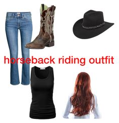 """""""horse riding is my passion"""" by graceehmen ❤ liked on Polyvore featuring H&M, Ariat and Bailey Western"""