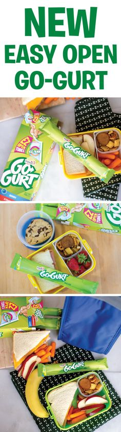 Perfect for lunch boxes! Place a frozen tube in your kiddo's lunchbox and it will thaw by lunchtime! New Recipes, Snack Recipes, Snacks, Food To Go, Food And Drink, Lunch Boxes, Lunch Time, Types Of Food, Picky Eaters
