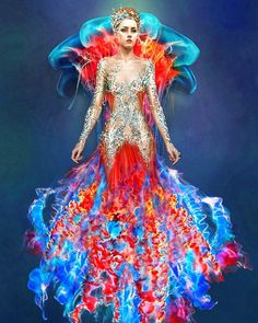 """justiceleague:""""Concept art of Mera's royal dress from """"Aquaman"""" """" Aquaman Costume, Aquaman Cosplay, Dc Cosplay, Pokemon Cosplay, Zack Snyder Justice League, Mera Dc, Top Superheroes, Aquaman 2018, Aquaman Comics"""
