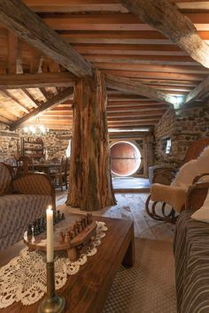 Ideas For Tree House Interior Hobbit Hole Casa Dos Hobbits, Houses In France, Log Cabin Homes, Cabins, Underground Homes, Earth Homes, Natural Building, Green Building, Earthship