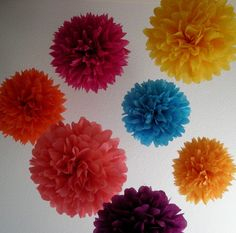 Bollywood  10 tissue paper poms // destination wedding by PomLove, $35.00