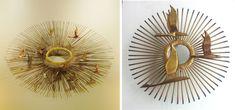 Vintagellous: DIY ESPEJO DE SOL VINTAGE Diy Canvas Frame, Starburst Mirror, Diy Mirror, Resin Crafts, Decoration, Creations, Casa Retro, Creative Ideas, Mirrors