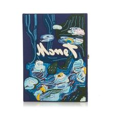 Olympia Le-Tan Water Lilies by Claude Monet book clutch (€1.755) ❤ liked on Polyvore featuring bags, handbags, clutches, blue multi, blue clutches, lily handbags, blue purse, blue handbags and lily purses