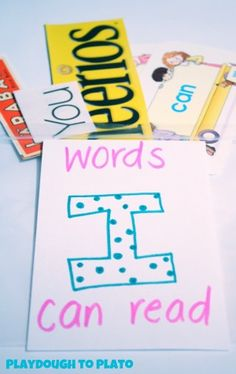 Words I Can Read Scavenger Hunt. Fun way for children to begin seeing themselves as readers.@Susan Lewis