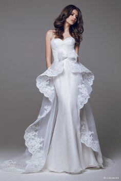 http://www.weddinginspirasi.com/2014/09/02/blumarine-wedding-dresses-2015-part-2/ Blumarine sposa 2015 #wedding dress lace peplum overskirt #weddingGown #weddingDress