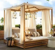 Sleep Outside Under the Stars in One of These Beds: Madera Teak Daybed